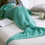 Turquoise Mermaid Tail Blanket