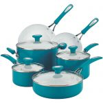 Marine Blue Ceramic 12-pc. Nonstick Cookware Set
