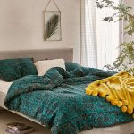 Teal Worn Damask Comforter