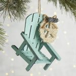 Blue Beach Chair Ornament