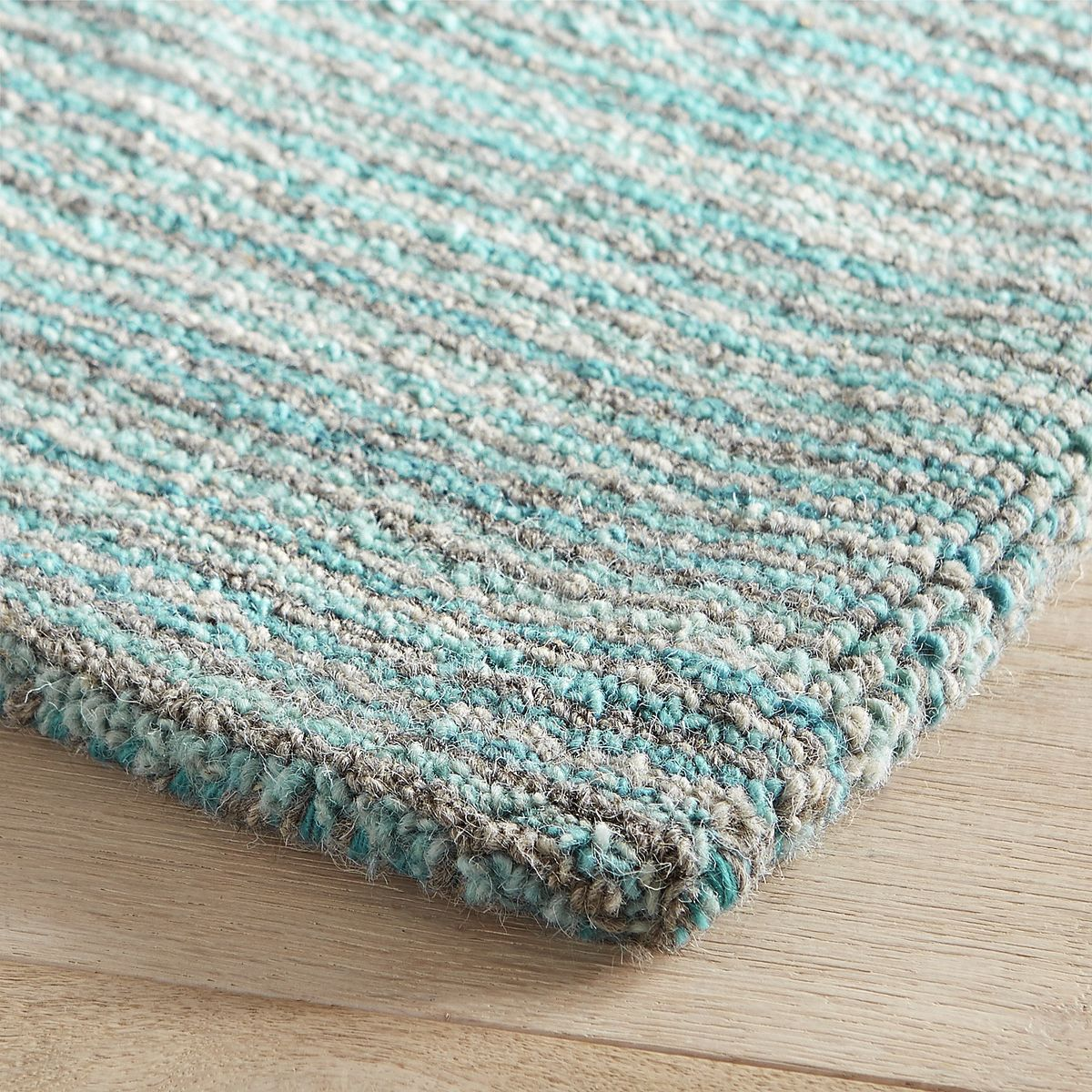 Cain Striped Aqua Rug Everything Turquoise