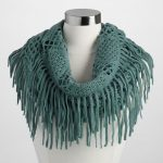 Green Fringe Infinity Scarf