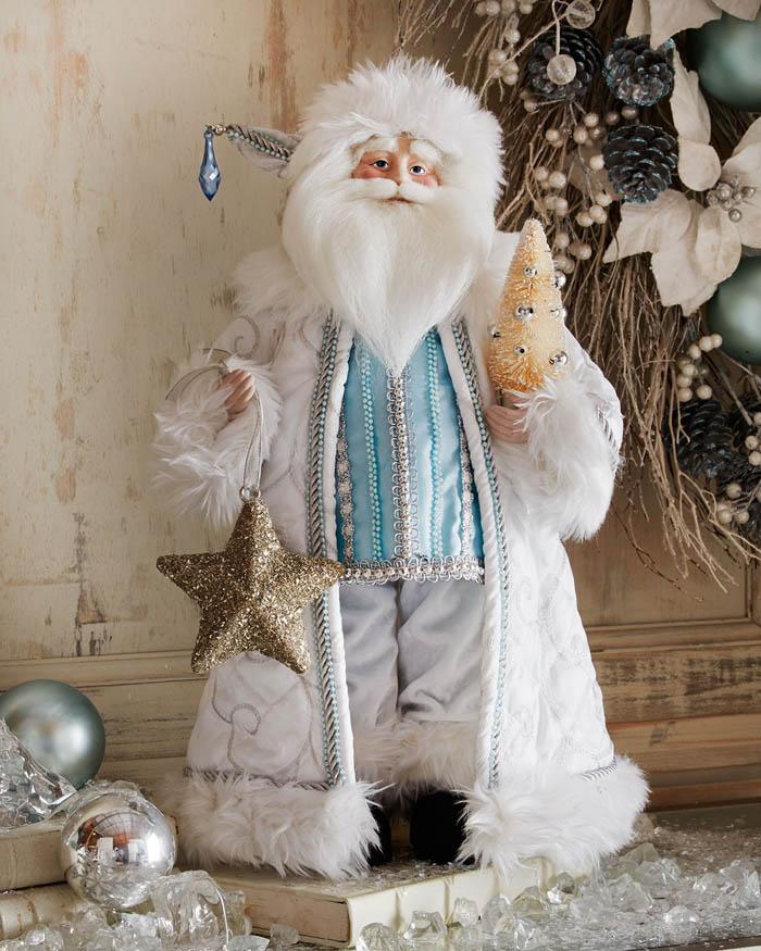 "Ice Blue & Silver 19"" Santa"
