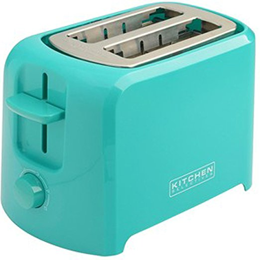 Kitchen Selectives: Kitchen Selectives Cool-Touch 2 Slice Teal Toaster
