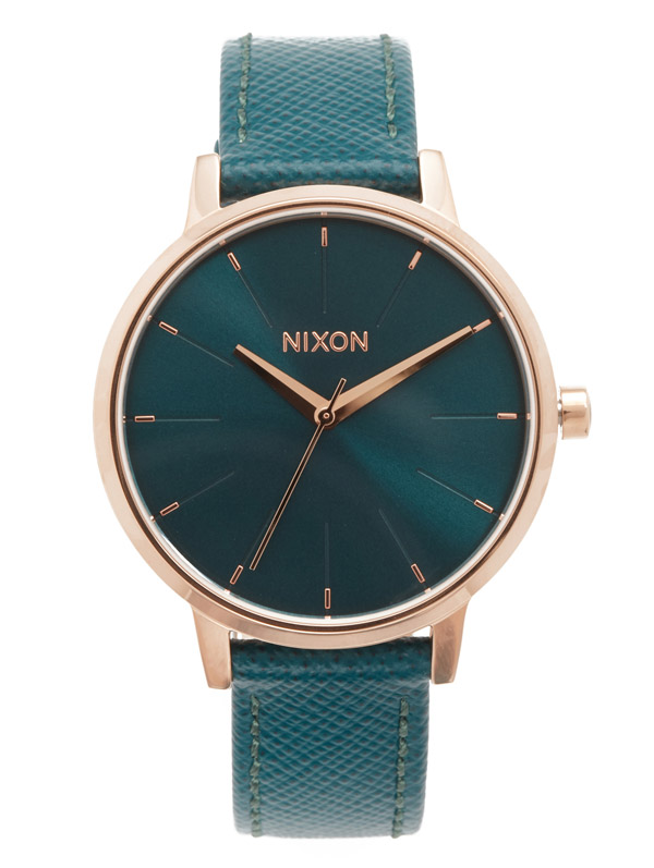 Nixon Teal Lux Life Kensington Leather Watch