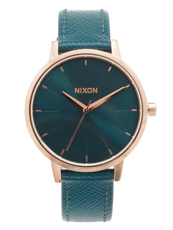 Nixon Teal Lux Life Kensington Leather Watch