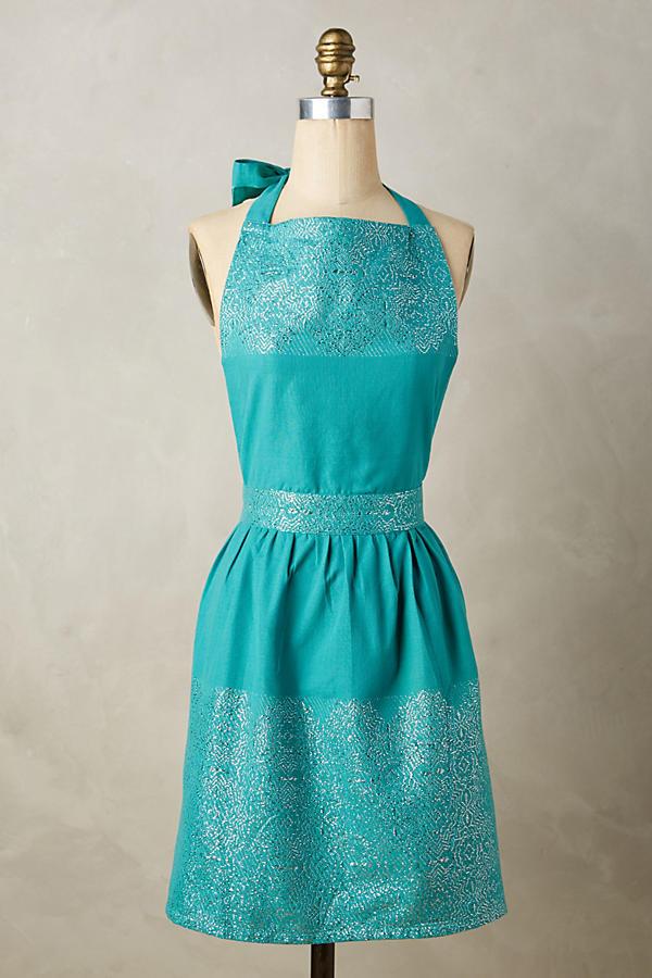 Turquoise Annika Apron