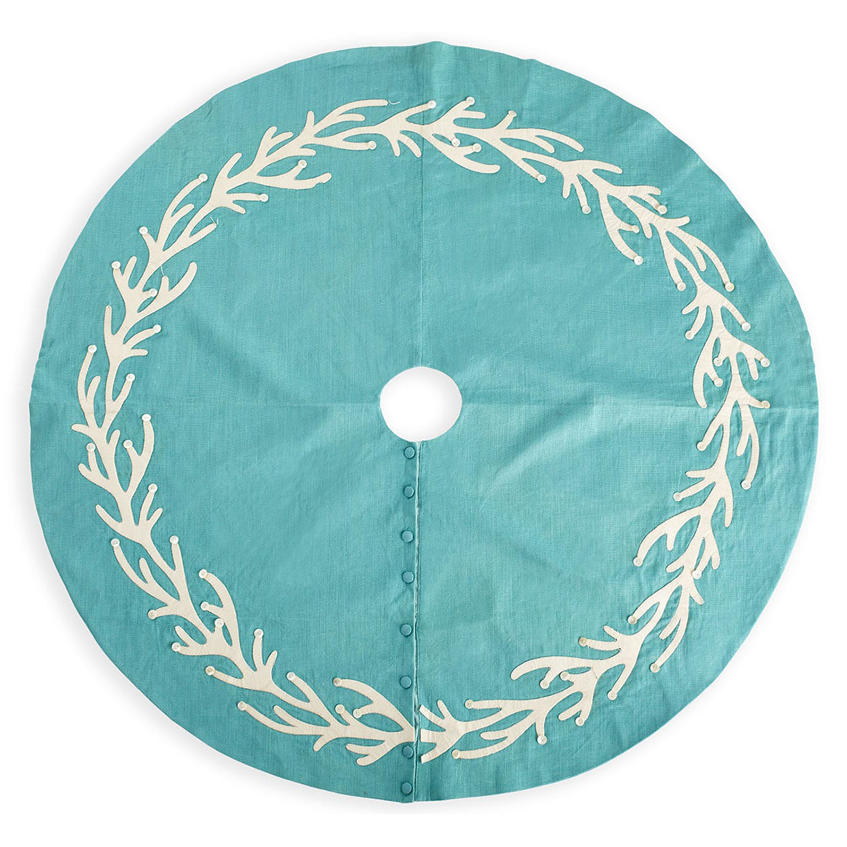 Turquoise Coral Tree Skirt
