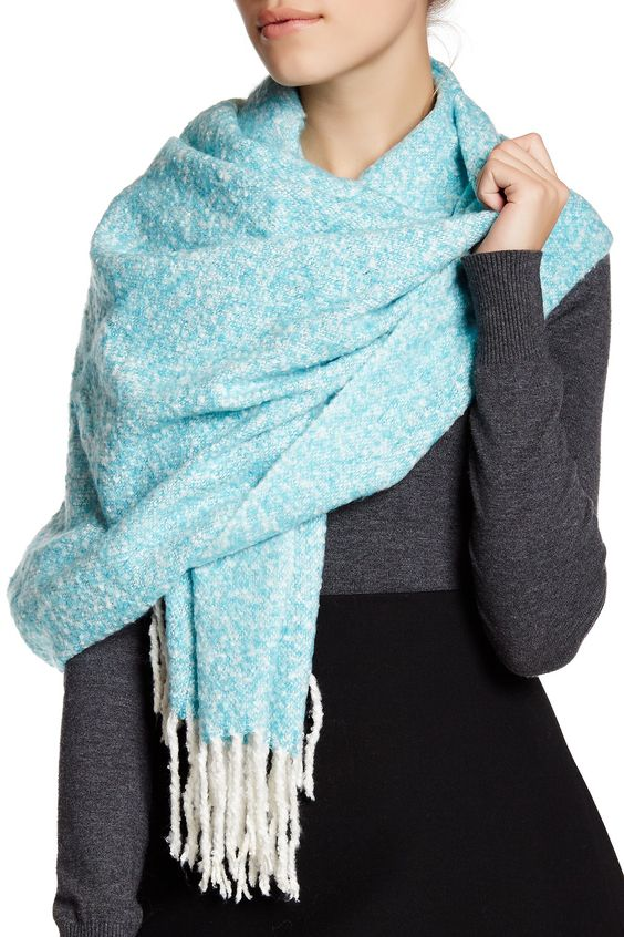 Turquoise Shiraleah Luz Scarf