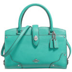 COACH Mercer Satchel 24 in Aqua Grain Leather