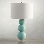 Cerena Seafoam Ceramic Stacked Table Lamp