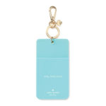 Kate Spade Turquoise Black Dot ID Clip