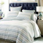 Marina Striped Blue Duvet Cover & Sham