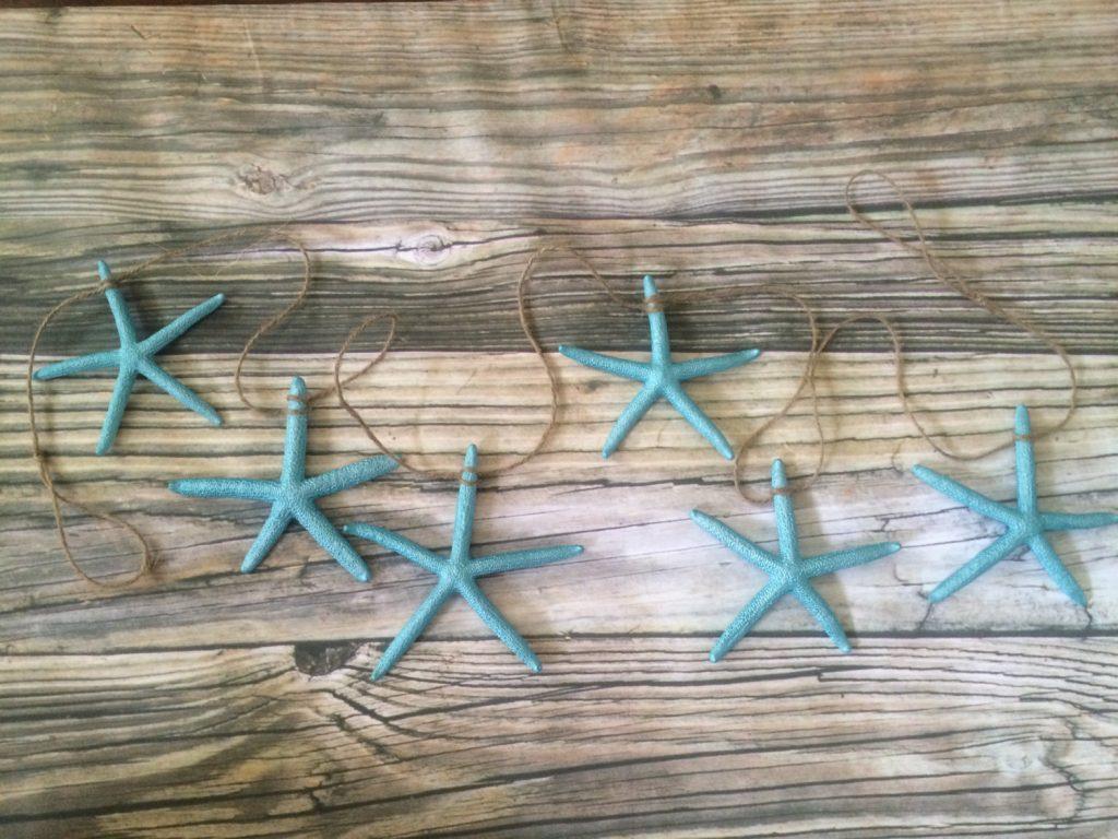 Turquoise Blue Starfish Garland
