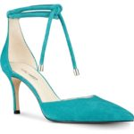 Turquoise Nine West Millenio Ankle Wrap Pump