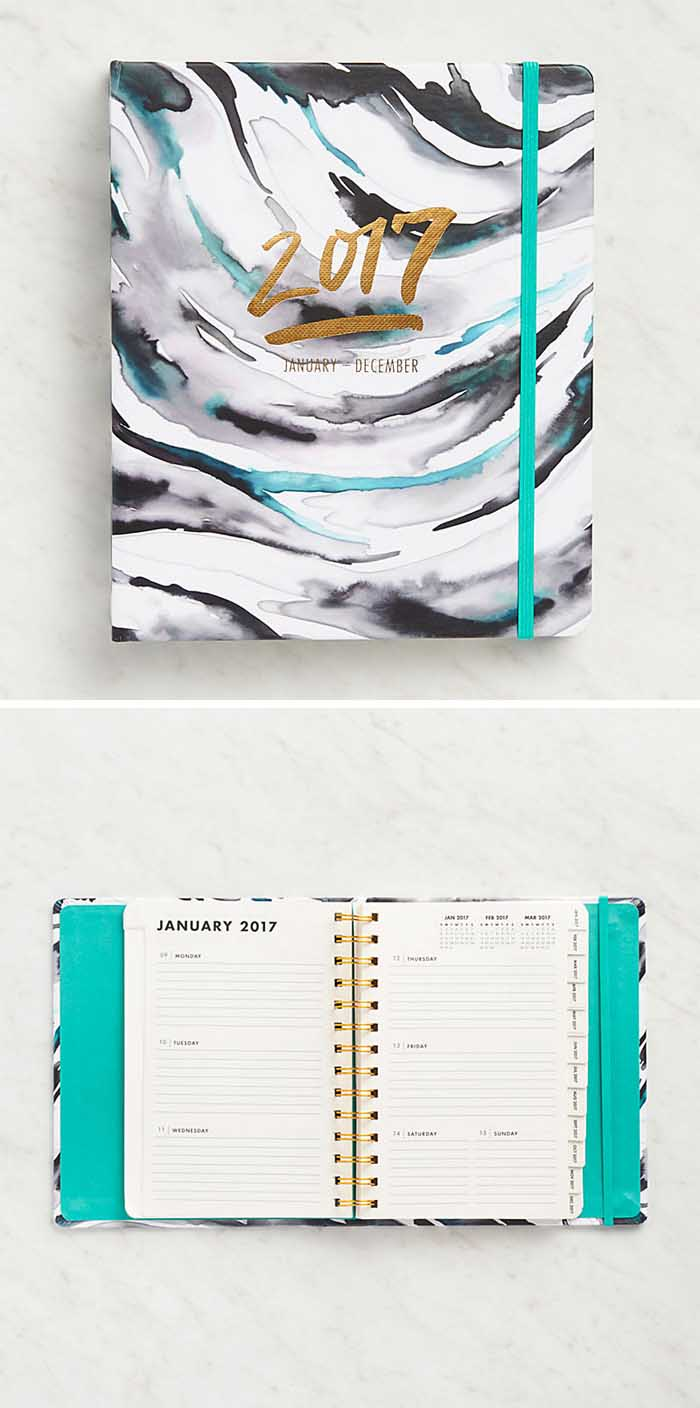 Watercolor Demi Hidden Spiral Planner