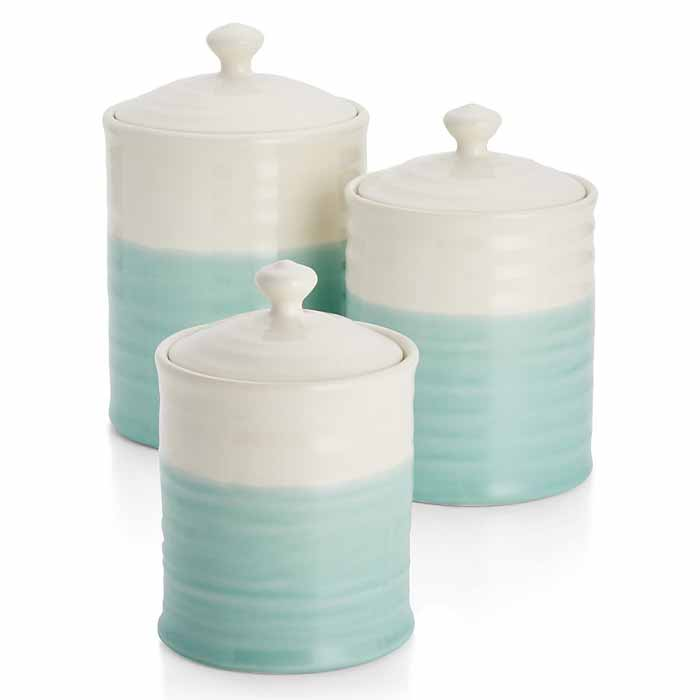 aqua dip canisters everything turquoise