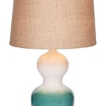 Blue Ombre Ceramic Table Lamp