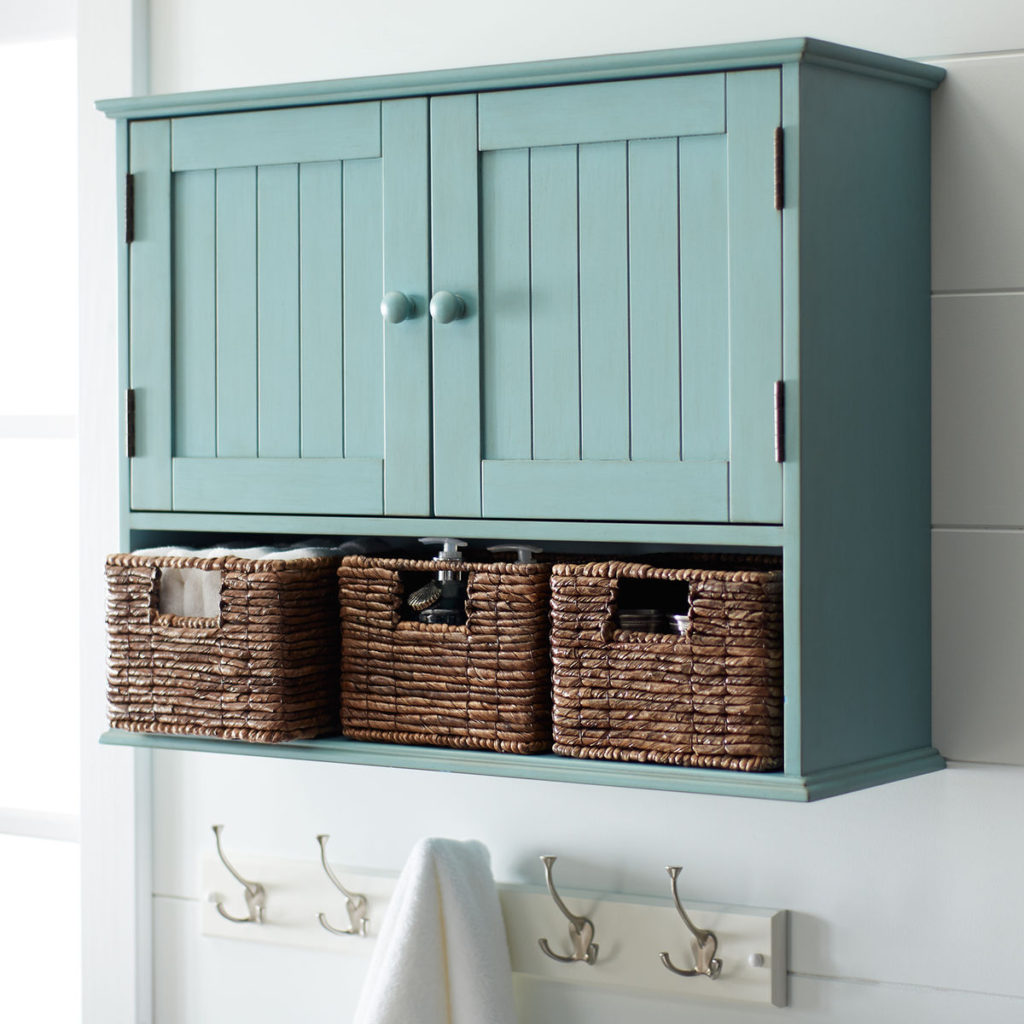 Holtom Antique Sky Blue Wall Storage