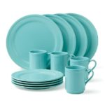 Kate Spade Turquoise Stoneware 12-Piece Dinnerware Set