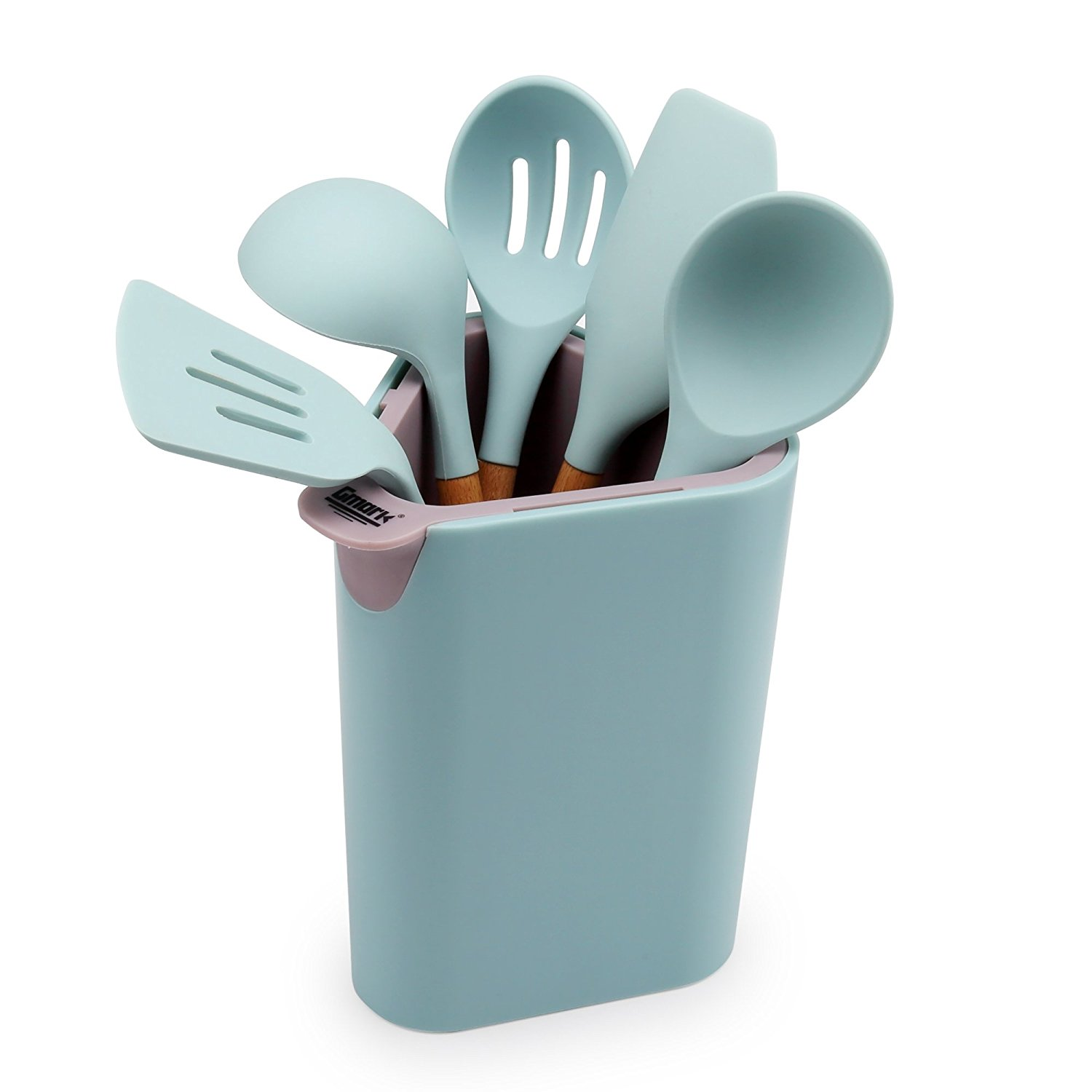 Silicone Cooking Utensil Set Everything Turquoise
