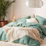 Teal Iktan Trim Duvet Cover