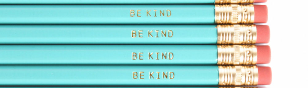 Turquoise Be Kind Pencils
