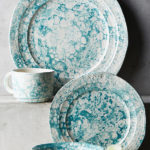 Turquoise Marbled Glenna Dinnerware