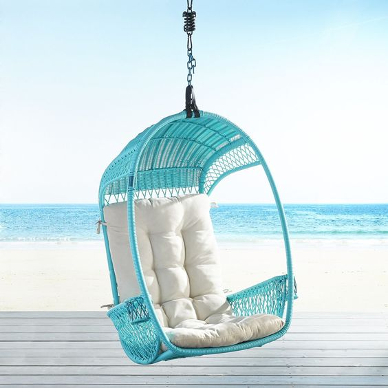 Turquoise Swingasan Hanging Chair