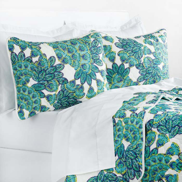 Blue and Aqua Peacock Bedding Collection