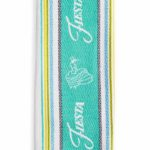 Turquoise Fiesta Logo Stripe Kitchen Towel