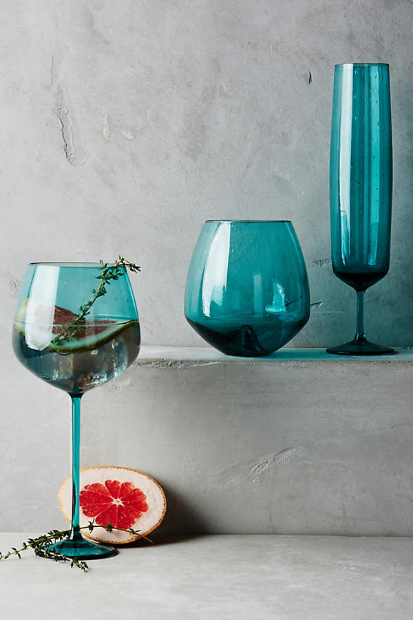 Pippa Turquoise Wine Glass