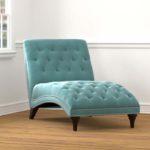 Turquoise Velvet Snuggler Chaise
