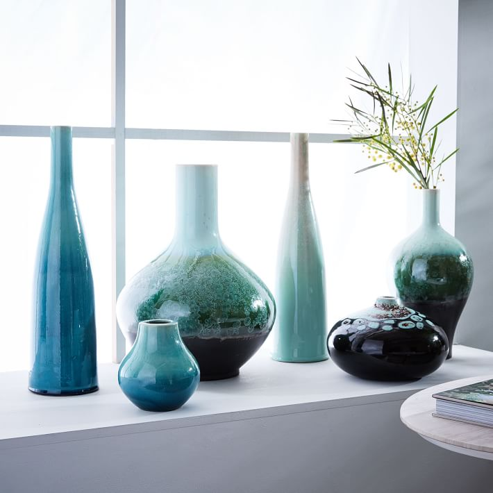 Reactive Glaze Vases Everything Turquoise