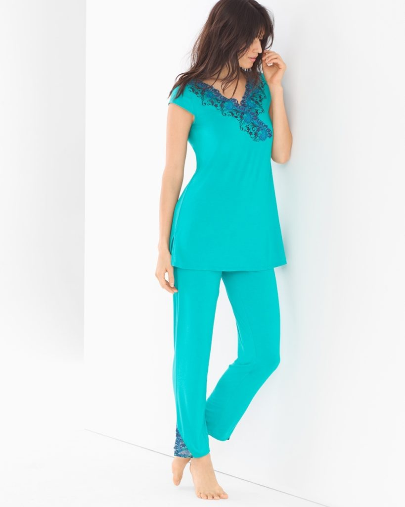 Tunic Pajama Set Viridian Green
