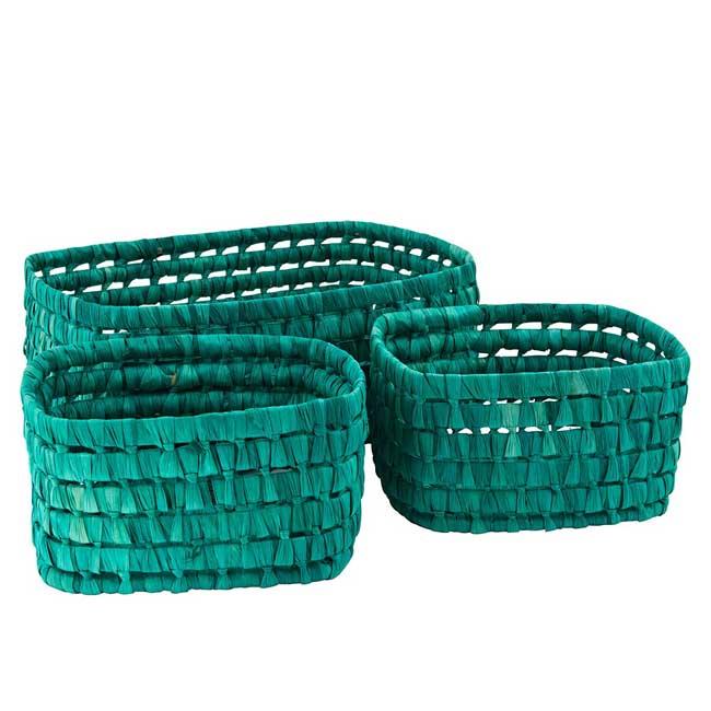 Turquoise Picnic Basket Set