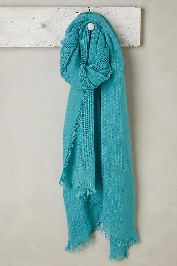 Turquoise Pop Of Color Scarf