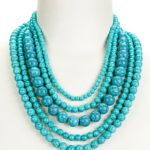 Amy Turquoise Beaded Multi-Strand Necklace