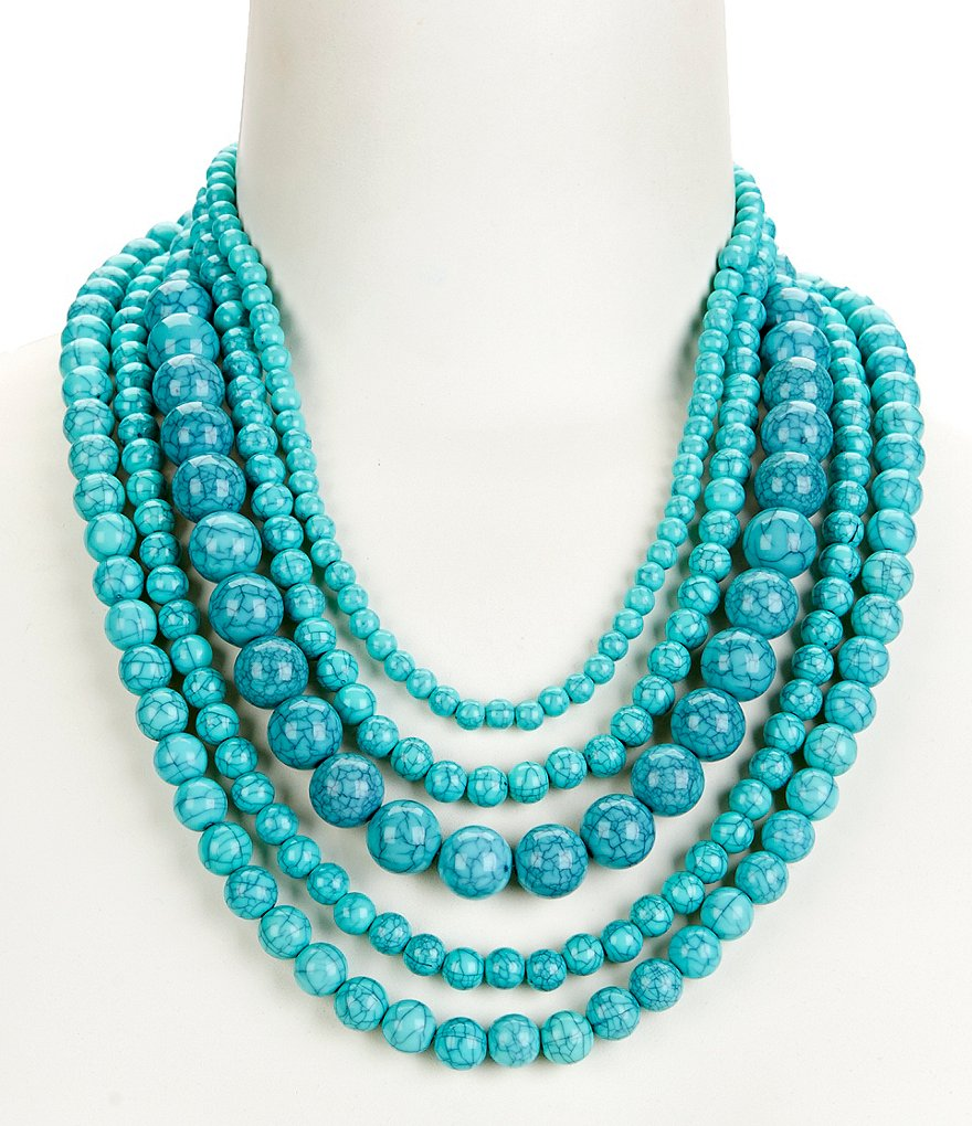 Anna & Ava Amy Turquoise Beaded Multi-Strand Necklace