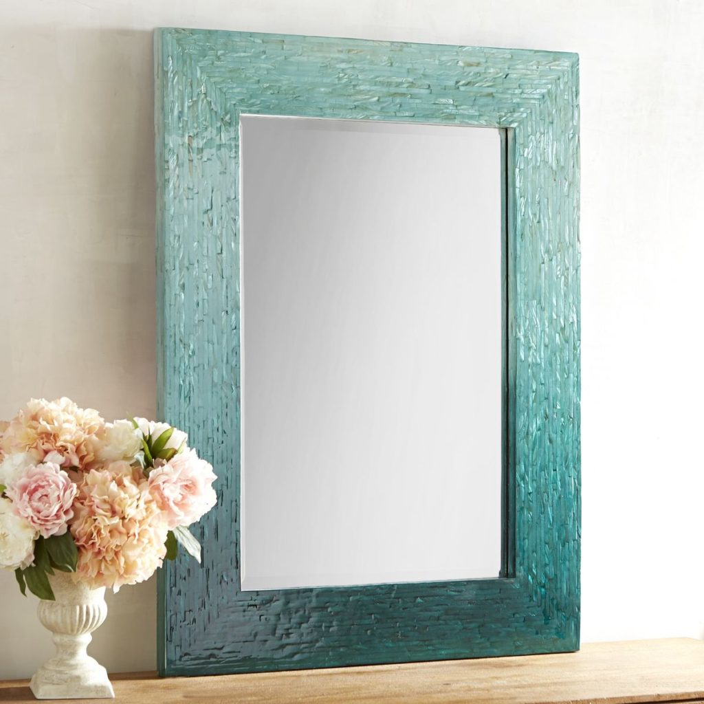 Blue Ombre Mother-of-Pearl Mirror