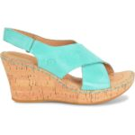 Born Henning Leather Cork Wedge Sandals