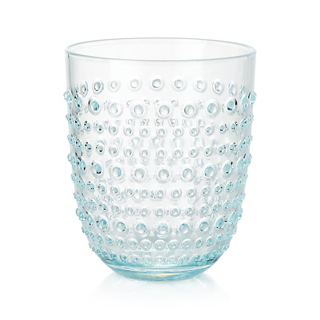 Dottie Aqua Acrylic Drink Glass