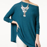 Turquoise Ribbed Cutout Top