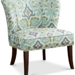 Blue Green Janie Armless Accent Chair