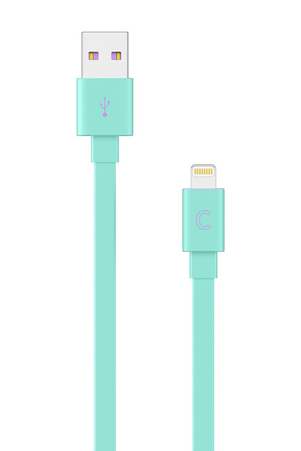 Pastel Green 5ft. USB to Lightning Flat Cable