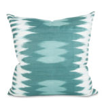 Teal Ikat Pillow