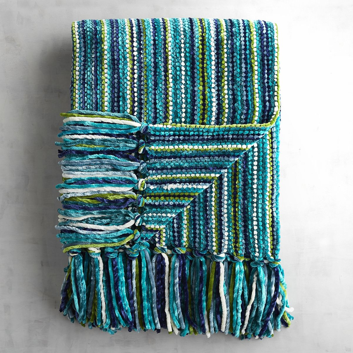 Teal Streamers Chenille Throw Everything Turquoise