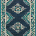 Teal and Navy Eveline Rug