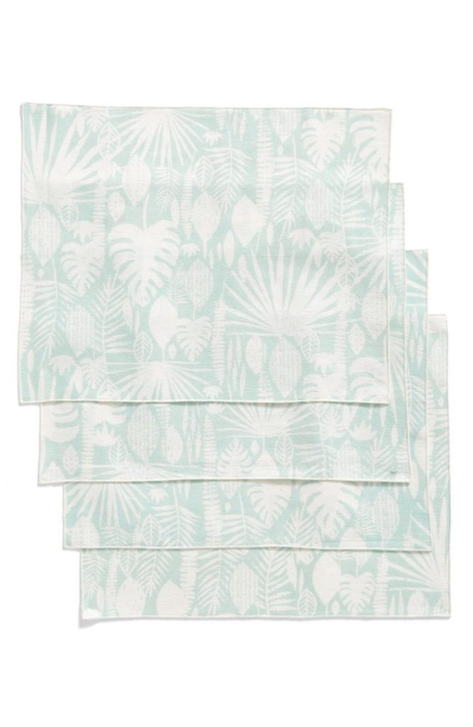 Tropical Leaves Set of 4 Placemats