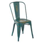 Antique Turquoise Bristow Dining Side Chair